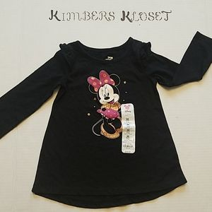 NWT Disney Minnie Mouse Long Sleeve Tunic Top 24M